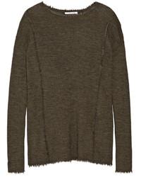 Jersey de lana verde oliva de Helmut Lang