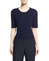 Jersey de manga corta azul marino de The Row