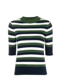 Jersey de manga corta de rayas horizontales en multicolor de Sonia Rykiel
