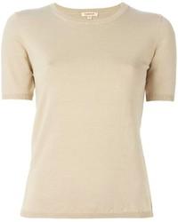 Jersey de manga corta en beige