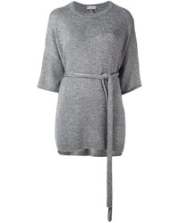 Jersey de manga corta gris de Brunello Cucinelli