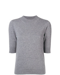 Jersey de manga corta gris de Sonia Rykiel