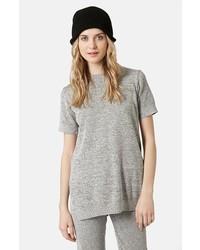 Jersey de manga corta gris de Topshop