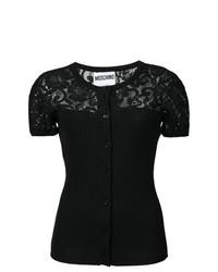 Jersey de manga corta negro de Moschino