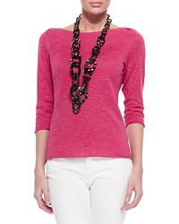 Jersey de manga corta rosa de Eileen Fisher