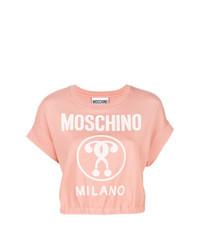 Jersey de manga corta rosado de Moschino