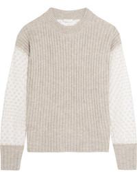 Jersey de mohair bordado gris de See by Chloe