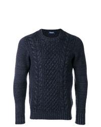 Jersey de ochos azul marino de Drumohr