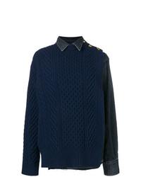 Jersey de ochos azul marino de Sacai