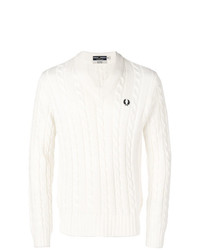 Jersey de ochos blanco de Fred Perry