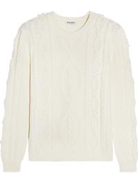 Jersey de ochos de punto blanco de Miu Miu