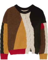 Jersey de ochos de punto en marrón oscuro de Etoile Isabel Marant