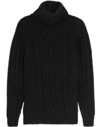 Jersey de ochos de punto negro de Tom Ford