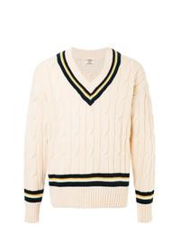 Jersey de ochos en beige de Kent & Curwen