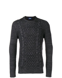 Jersey de ochos en gris oscuro de Drumohr