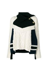 Jersey de ochos en negro y blanco de Sacai