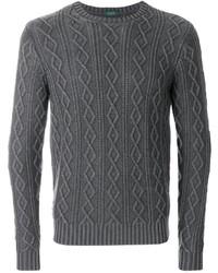 Jersey de ochos gris de Zanone