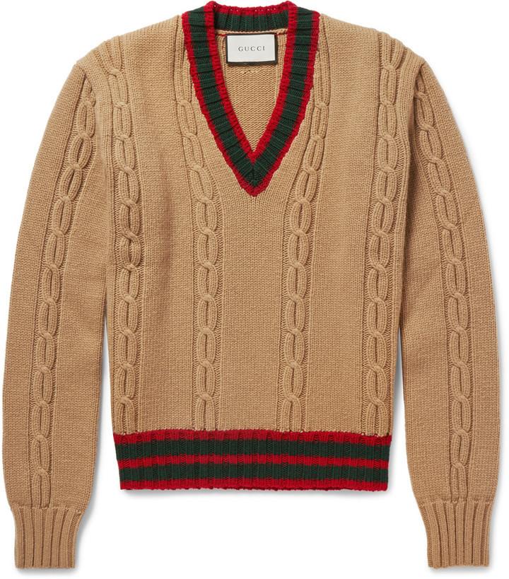 Jersey de Ochos Marrón Claro de Gucci  dónde comprar y cómo combinar 3fb43970dc1