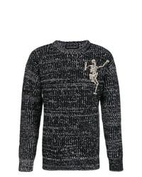 Jersey de ochos negro de Alexander McQueen