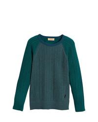 Jersey de ochos verde oscuro de Burberry