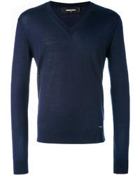 Jersey de pico azul marino de DSQUARED2