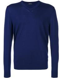 Jersey de pico azul marino de Z Zegna