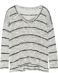 Jersey de pico de rayas horizontales gris de Splendid