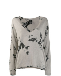 Jersey de pico efecto teñido anudado gris de Suzusan