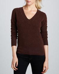 Jersey de pico en marrón oscuro