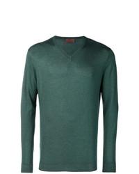 Jersey de pico en verde azulado de Altea