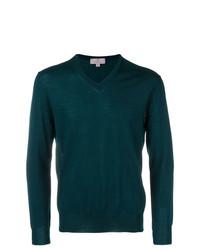Jersey de pico en verde azulado de Canali