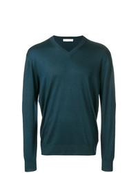 Jersey de pico en verde azulado de Cruciani