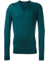 Jersey de pico en verde azulado de Dolce & Gabbana