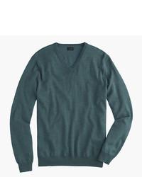 Jersey de pico en verde azulado de J.Crew