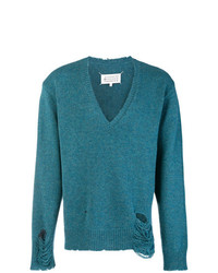 Jersey de pico en verde azulado de Maison Margiela