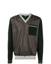 Jersey de pico estampado negro de Lanvin