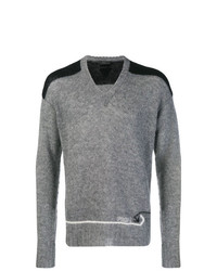 Jersey de pico gris de Prada