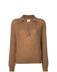 Jersey de pico marrón claro de Khaite