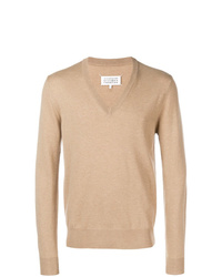 Jersey de pico marrón claro de Maison Margiela