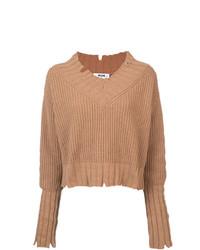 Jersey de pico marrón claro de MSGM