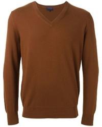 Jersey de pico marrón de Lanvin