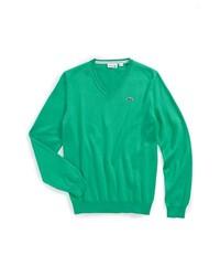 Jersey de pico verde de Lacoste