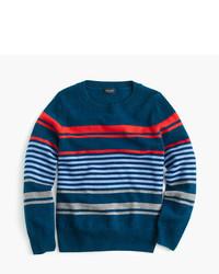 Jersey de rayas horizontales azul marino de J.Crew