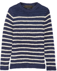Jersey de rayas horizontales azul marino de The Elder Statesman