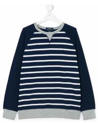 Jersey de rayas horizontales en azul marino y blanco