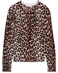 Jersey de seda de leopardo en beige de Equipment