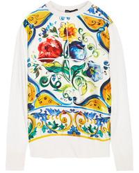 Jersey de seda estampado amarillo de Dolce & Gabbana