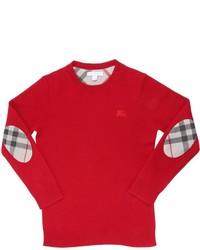Jersey de tartán rojo de Burberry