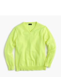 Jersey en amarillo verdoso de J.Crew