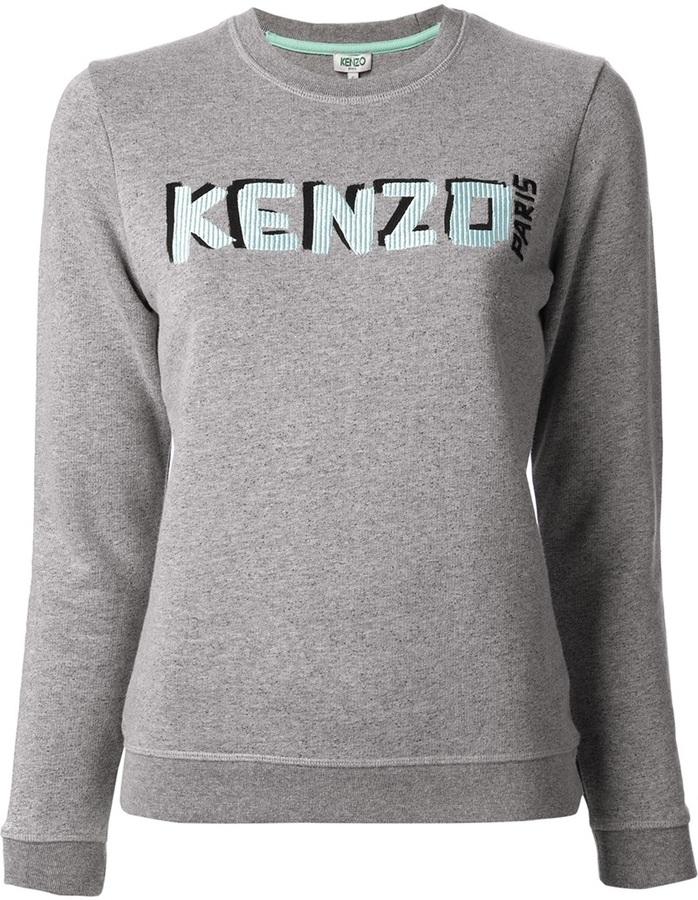 Jersey estampado gris de Kenzo